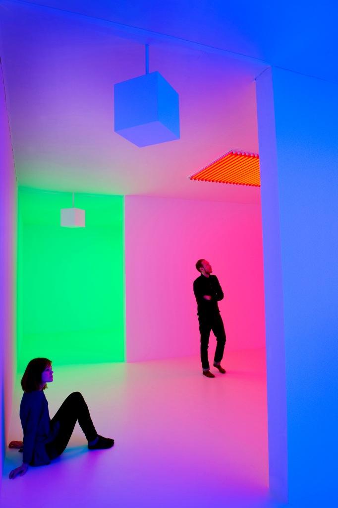 "Carlos Cruz-Diez, installation view of ""Light Show"", at Hayward Gallery, London. Photo by Linda Nylind."