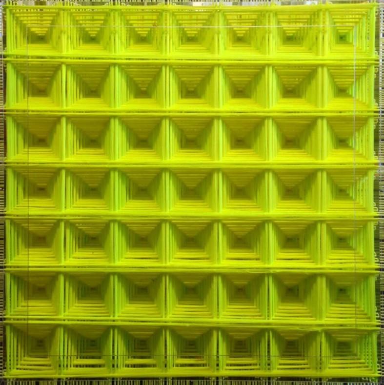 Emilio Cavallini, 'Perfect Bifurcation (Jaune)',tights, 35,4 x 35,4 in.