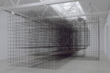 "Antony Gormley, 'Matrix II', metal sculpture from the exhibition ""Second Body"" at Galerie Thaddeus Ropac, Paris."