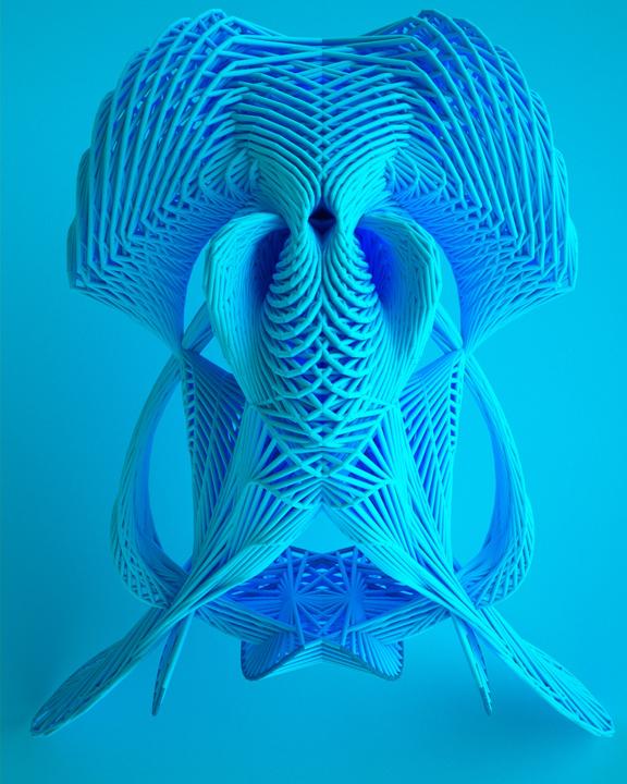 Leonardoworx, 'DNA 2', 2014, 3D Iterative Digital Image basedon algorithms generated by Leonardoworx's own programming codes, 70 x 100 cm.