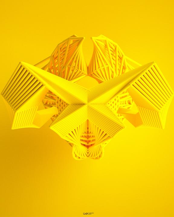 Leonardoworx, 'DNA 4', 2014, 3D Iterative Digital Image basedon algorithms generated by Leonardoworx's own programming codes , 70 X 100 cm.