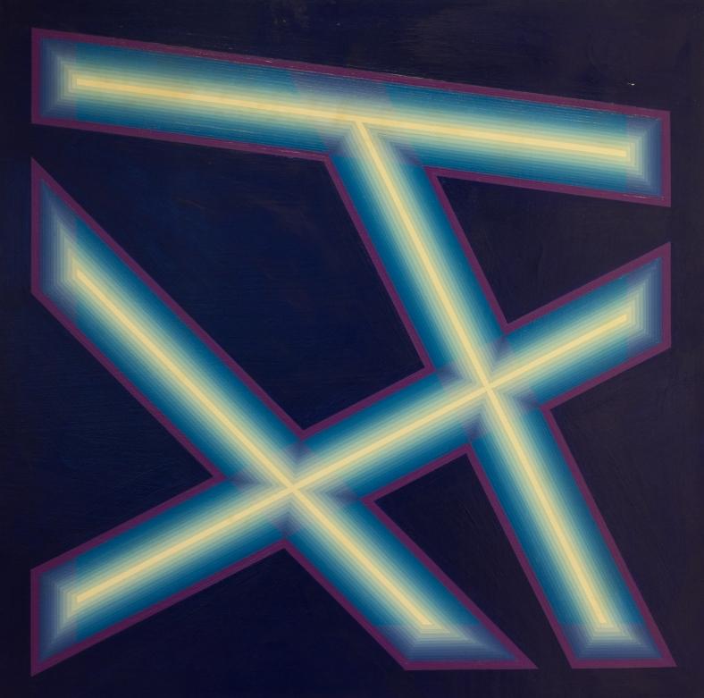 Rino Sernaglia, 'Luce-Ombra', 1990, acrylic on canvas, 80 x 80 cm.