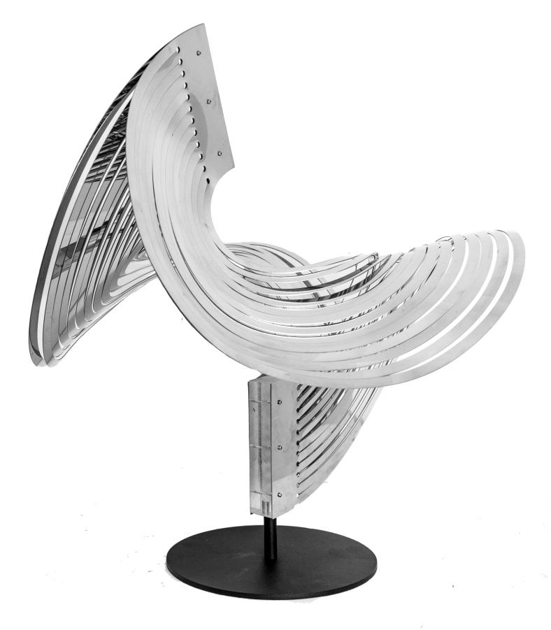 Nadia Costantini, 'Torsioni', 2010, polishedstainless steel, 50 x 50 x 56 cm.