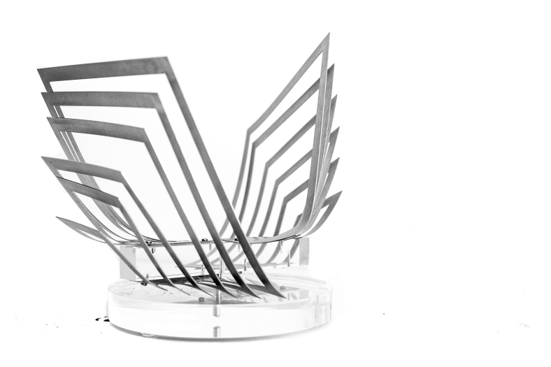 Nadia Costantini, Torsioni, 2015, brushed stainless steel, 26 x 16 x 20 cm.