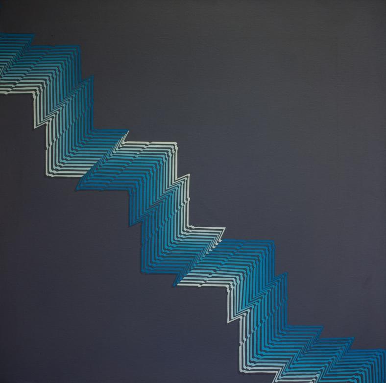 Rino Sernaglia, 'Modulazione di Superficie', 1981, acrylic on canvas, 80 x 80 cm.