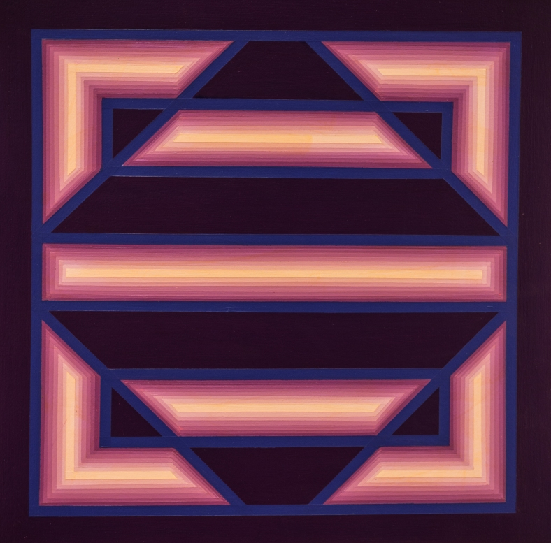 Rino Sernaglia, 'Luce-ombra', 1978, acrylic on cardboard, 50 x 50 cm.