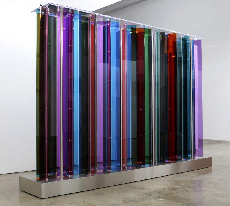 Carlos Cruz-Diez, 'Transchromie Manipulable Los Angeles', 2014, mixed media, 119.69 x 81.1 inches (304 x 206 cm). Unique.