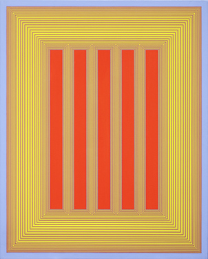 Richard Anuszkiewicz, Untitled (Red and Yellow Temple), 1983