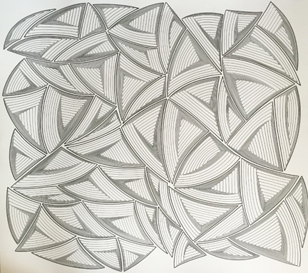 Elizabeth Gregory-Gruen Free Hand Allover Abstract Drawing