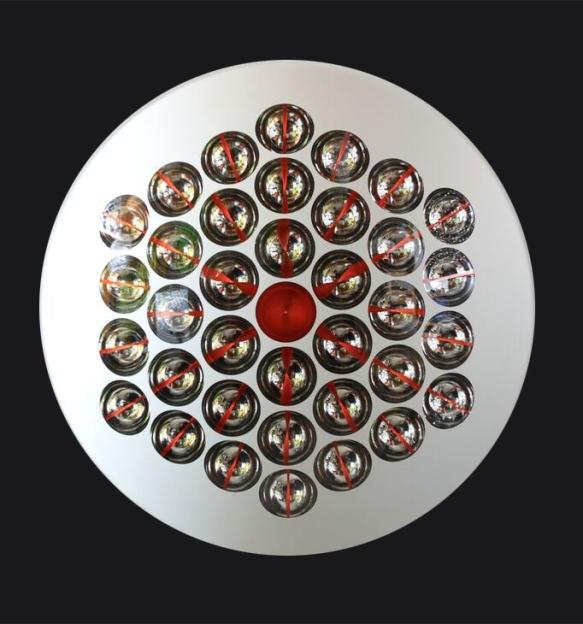 Lente Cromocinetica, 2004, mixed media, 39.4x39.4 in