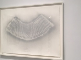 "Heinz Mack ""Vogel-Traum-Flug (Bird-Dream-Flight)"", 1963, silver spray on paper, 30 3/4 X 42 1/2 in."